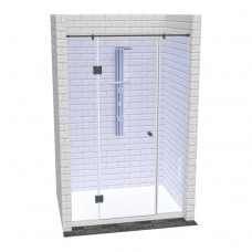 Линейная душевая перегородка с доборами и распашной дверью