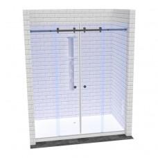 Линейная перегородка в душ с раздвижными дверями