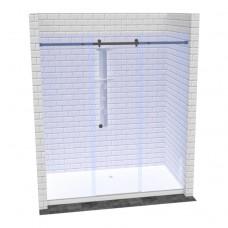 Линейная перегородка в душ с доборами и раздвижной дверью