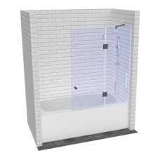 Складная стеклянная шторка для ванной