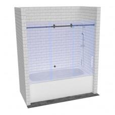 Стеклянная раздвижная шторка для ванны