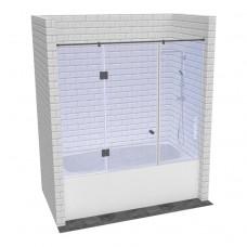 Стеклянная шторка для ванной распашной дверью