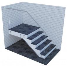 Стеклянные ограждения для лестниц на точках с верхним стальным профилем